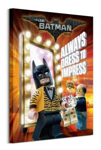 Lego Batman (Always Dress To Impess) - obraz na płótnie