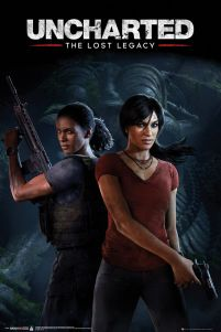 Uncharted The Lost Legacy Cover - plakat gamingowy 61x91,5