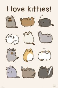 Pusheen The Cat I Love Kitties - plakat