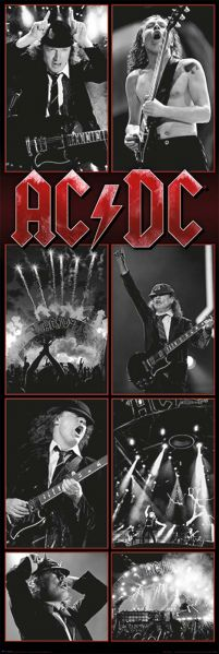 Acdc Live Montage Plakat
