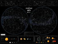 Star Map of the Sky - gwiezdna mapa nieba