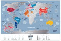 Weekend World - Mapa zdrapka