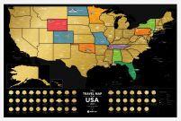 USA Black - Mapa zdrapka