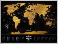 Black World - Mapa zdrapka