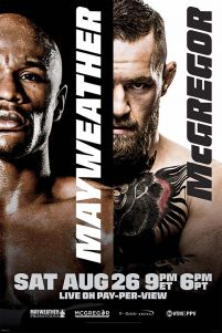 Mayweather vs McGregor - plakat