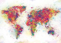 World Map (Colour Splash) - plakat