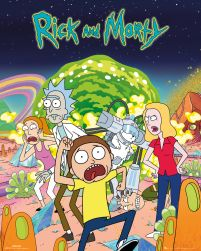 Rick and Morty - plakat z serialu