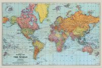 Stanfords General Map Of The World (Colour) - plakat