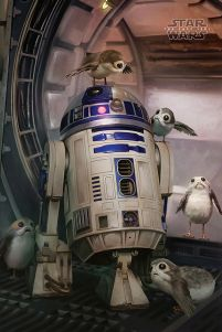 Star Wars The Last Jedi (R2-D2 & Porgs) - plakat