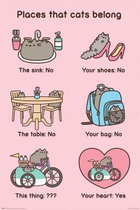 Pusheen (Places Cats Belong) - plakat
