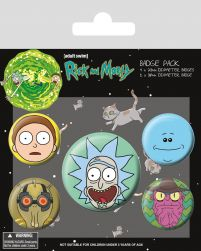 Rick and Morty (Heads) - przypinki