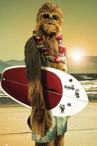Star Wars Chewbacca Surfing - plakat