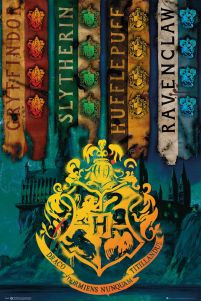 Harry Potter House Flags - plakat