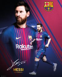 Barcelona Messi Collage 17/18 - plakat