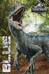 Jurassic World: Fallen Kingdom, Blue - plakat filmowy