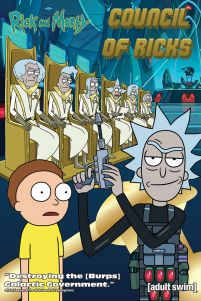 Plakat z serialu Rick and Morty Council Of Ricks