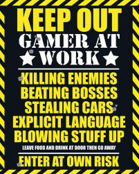 Gaming - Keep Out - plakat dla gracza