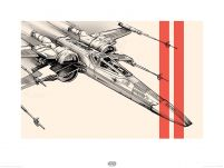 reprodukcja z filmu Star Wars The Force Awakens X-Wing