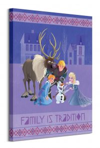 Olaf's Frozen Adventure Family is Tradition - obraz na płótnie 60x80 cm
