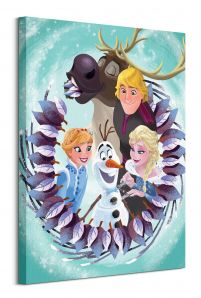 Olaf's Frozen Adventure Group - obraz na płótnie 60x80 cm