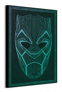 Black Panther Tribal Mask - obraz na płótnie 60x80 cm