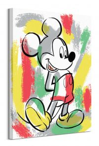 Mickey Mouse Paint Stripes - obraz na płótnie 60x80 cm