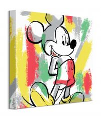 Mickey Mouse Paint Stripes - obraz na płótnie