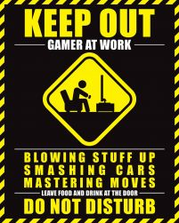 Gamer At Work - plakat dla gracza 40x50 cm