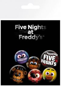 Przypinki z gry Five Nights At Freedy's