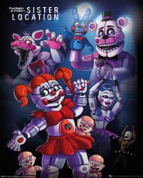 Plakat z gry Five Nights at Freddy's: Sister Location