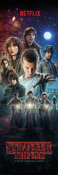 Poster z bohaterami Stranger Things