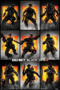 Plakat z postaciami gry Call of Duty: Black Ops 4