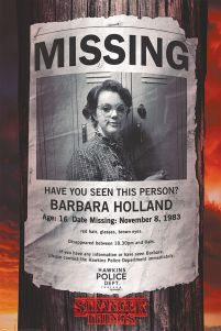 Plakat z bohaterką Stranger Things, poster Missing Barb
