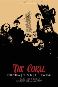 The Coral (Tour) - plakat koncertowy Liverpool Academy