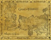 Game Of Thrones Antique Map - plakat z serialu