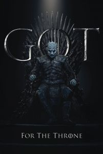 Game of Thrones The Night King For The Throne - plakat