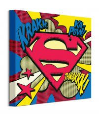 Superman Pop Art Shield - obraz na płótnie