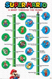 Super Mario A Warp Through The Years - plakat