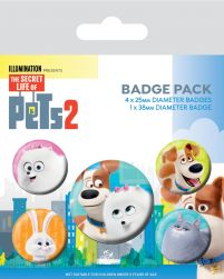 Secret Life Of Pets 2 For Pet's Sake - przypinki