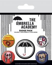 The Umbrella Academy Super - przypinki