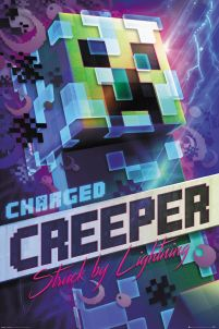 Minecraft Charged Creeper - plakat