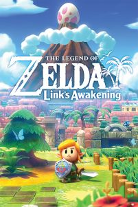 The Legend Of Zelda Links Awakening - plakat