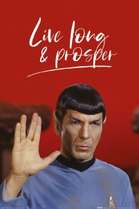 Star Trek Spock Live Long and Prosper - plakat