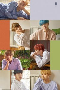 BTS Group Collage - plakat