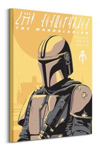 Star Wars The Mandalorian Illustration - obraz na płótnie