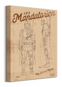 Star Wars The Mandalorian Action Figure - obraz na płótnie