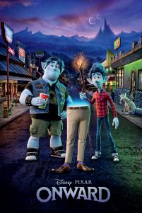 Bajkowy plakat Onward adventure Disney Pixar Ian i Barley Lightfoot