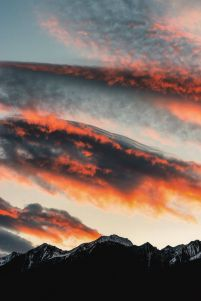 Autumnal Sky in the Alps - plakat