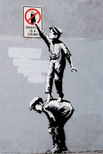 Graffiti is a crime - plakat