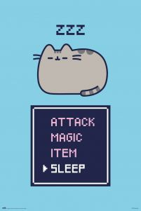 Pusheen Gamer - plakat